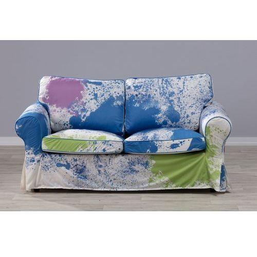 pokrowiec na sofę ektorp 2-osobową, nierozkładaną kolorowe mazaje, sofa ektorp 2-osobowa marki Dekoria