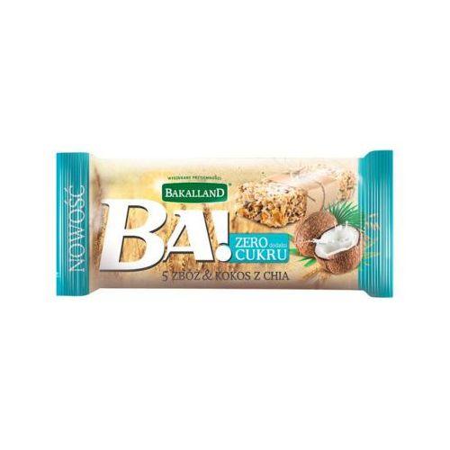 30g ba! baton zbożowy 5 zbóż kokos z chia marki Bakalland