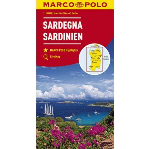MARCO POLO Karte Sardinien 1:200 000. Sardaigne / Sardegna / Sardinia (9783829739870)