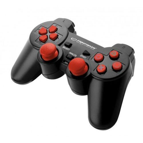 "Gamepad PS2/PS3/PC USB Esperanza ""Corsair"" czarno/czerwony, EGG106R"