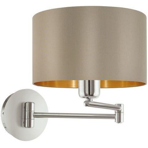 Eglo Kinkiet maserlo 95055 lampa ścienna 1x60w e27 cappucino/złoty
