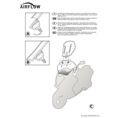 Givi af1144 szyba regulowana airflow honda crf1000l africa twin