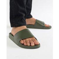 sliders in dark khaki - green marki New look