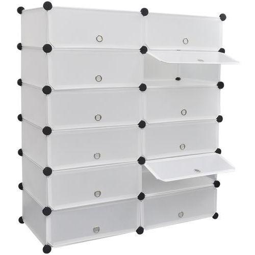 biały organizer na buty szafka z 12 szufladami 92x37x105 cm, marki Vidaxl