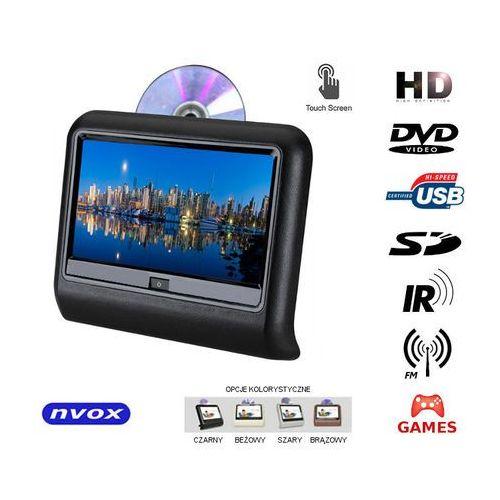 "NVOX VR9917THD BL Monitor dotykowy na zagłówek samochodowy LCD 9"" cali LED HD DVD USB SD IR FM GRY 12V"