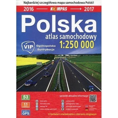 Polska Atlas samochodowy 1:250 000 Kompas, Dom Wydawniczy Pwn
