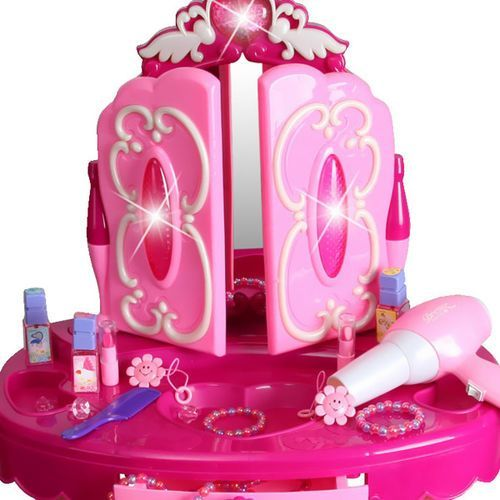 Kindersafe Duża toaletka z różdżką-pilotem dla dziewczynki lustro suszarka 008-18
