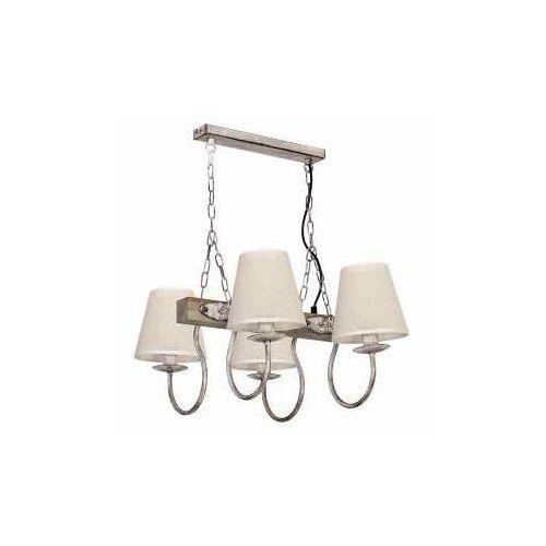 Lampa wisząca CARIN 4xE14/60W/230V szara