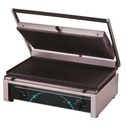 Resto quality Grill elektryczny kontaktowy   ryflowany   520x280mm   2500w   545x410x(h)205mm