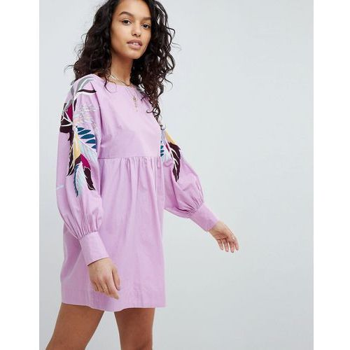 mini obsessions floral mutton sleeve dress - purple marki Free people