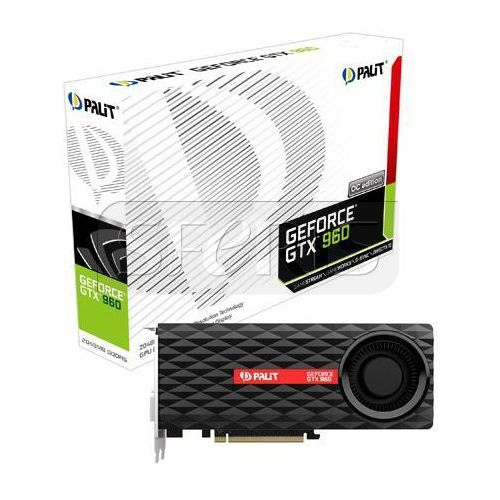 Karta graficzna PALIT GeForce® GTX 960 2048MB DDR5/128b D/H/DP PCI-E OC - NE5X96001041F (karta graficzna)