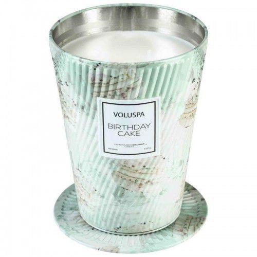 VOLUSPA świeca BIRTHDAY CAKE GIANT 737G - wosk kokosowy, dwa knoty (5900000050065)