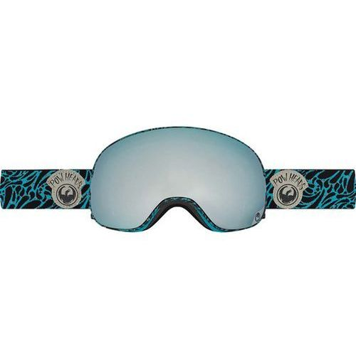 Dragon Gogle snowboardowe  - x2 - pow heads blue/mirror ion + yellow blue ion (663)