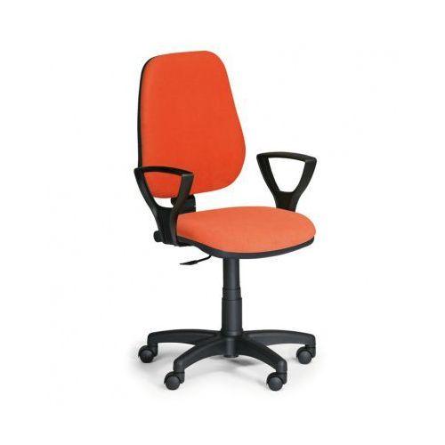 Krzesło biurowe COMFORT PK z podłokietnikami - pomaranczowe