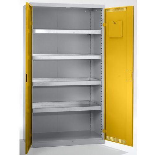 Szafa ekologiczna, drzwi perforowane, wys. x szer. x głęb. 1800x1000x500 mm, 4 p marki Stumpf-metall