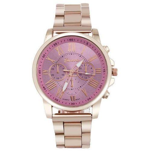 Geneva Zegarek bransoleta złoty różowy - pink