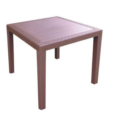 Mega plast stół ogrodowy mp696 ratan lux stół 71 x 75,5 cm, ciemnobrązowy