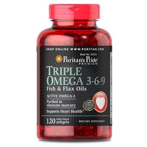 Puritan's Pride Triple Omega 3-6-9 Fish&Flax Oils - 120soft gels