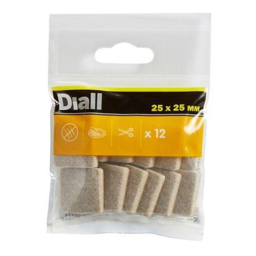 Diall Podkładki samoprzylepne filcowe 25 x 25 mm beżowe 12 szt. (3663602992448)