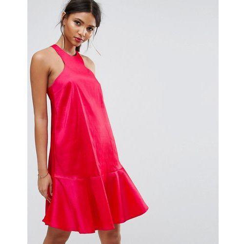 Y.A.S Studio Dress With Fluted Hem - Pink, kolor różowy