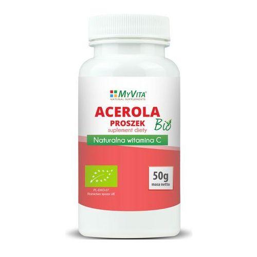 Proszek Acerola BIO naturalna witamina C proszek 50g MyVita