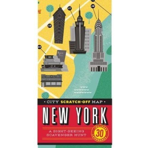 City Scratch-off Map: New York