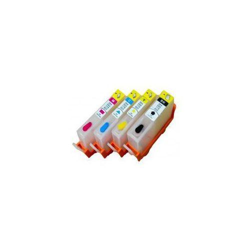 Wieczne kartridże photosmart premium fax cx410b z chipami - komplet marki Do hp