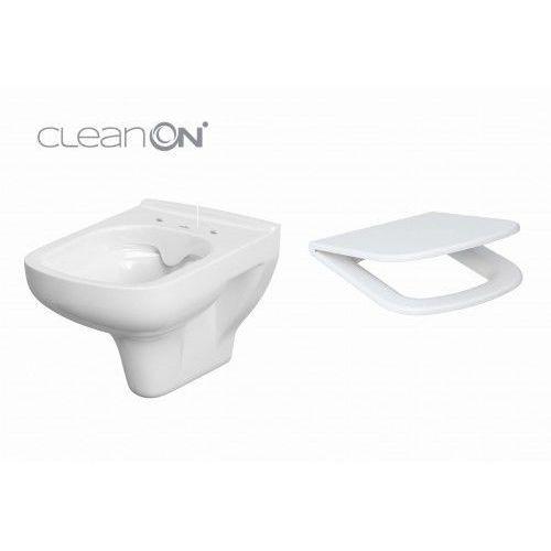 Cersanit miska wc wisząca colour clean on new + deska duroplast wolnoopadająca k103-024+k98-0092