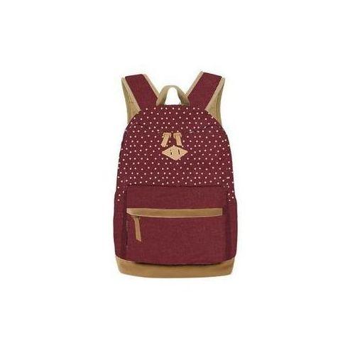 Plecak młodzieżowy Basic groszki bordowy (5901276078005)