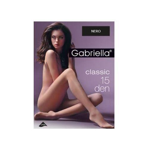 Rajstopy classic 15 den, rozmiar 3, kolor nero, Gabriella