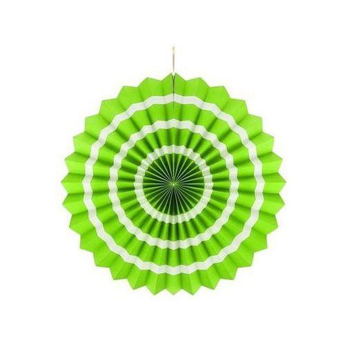 Go Dekoracja wisząca rozetka zielono - biała - 40 cm - 1 szt.