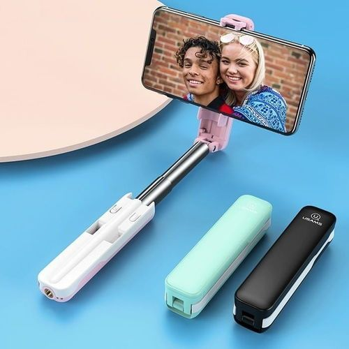 USAMS Selfie Stick M1 Mini 3,5 mm US-ZB052 czarny