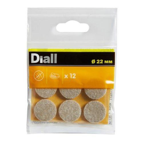 Podkładki samoprzylepne Diall filcowe 22 mm beżowe 12 szt.