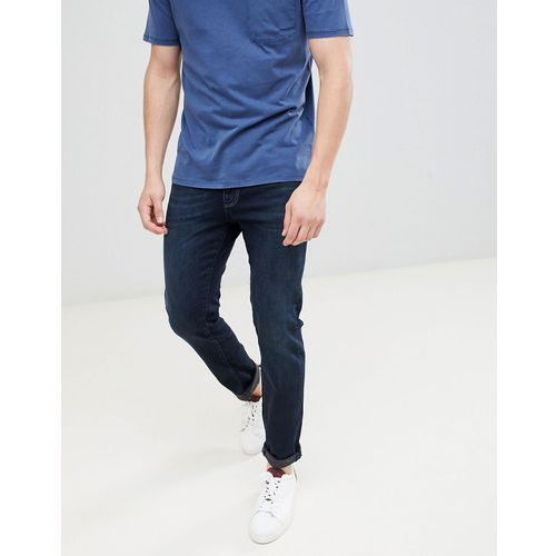 slim fit dark blue jeans - blue marki Selected homme