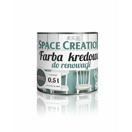 Space Creation farby - Space Creation farba kredowa Intense - grafit 0,5l, kolor szary