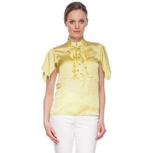 Duet woman Zielona bluzka z falbankami -