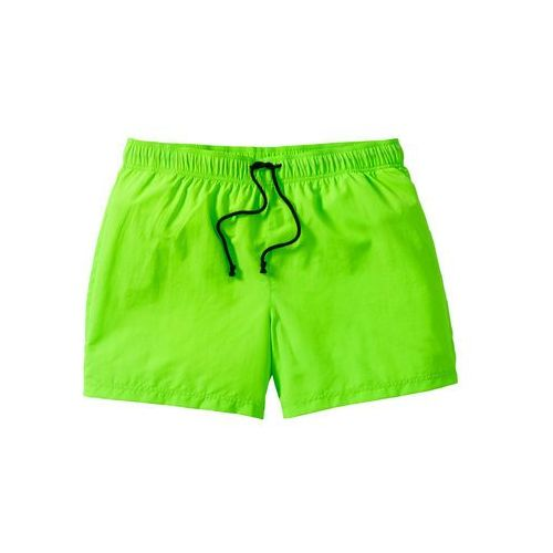 Szorty plażowe Regular Fit bonprix zielony neonowy, kolor zielony