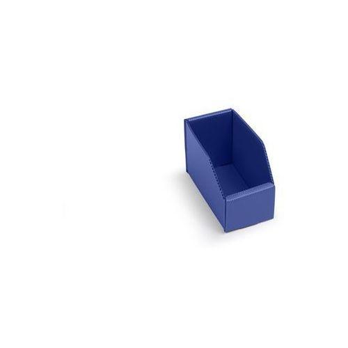 Skrzynki regałowe z tworzywa, składane, dł. x szer. x wys. 150x75x100 mm, niebie marki K bins limited