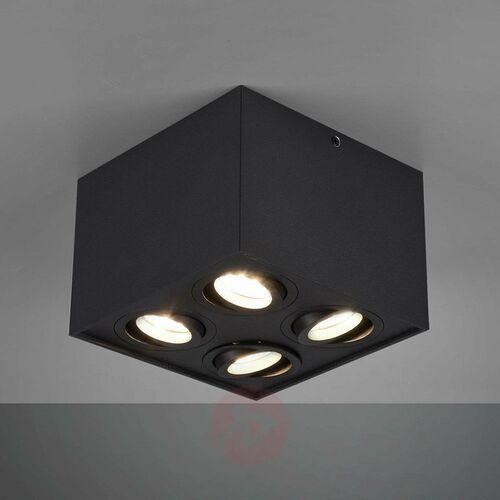 Lampa sufitowa leuchten biscuit czarny, 4-punktowe - nowoczesny - obszar wewnętrzny - biscuit - czas dostawy: od 3-6 dni roboczych marki Trio