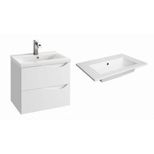 DEFRA szafka Murcia D60 biały połysk + umywalka Flex 60 144-D-06004+2622