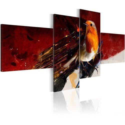 Obraz - malutki ptaszek na czterech częściach marki Artgeist