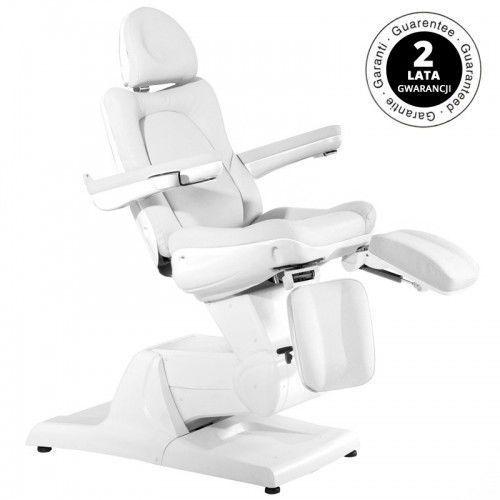 Activeshop Fotel kosmetyczny elektr. azzurro 870s pedi 3 siln. biały