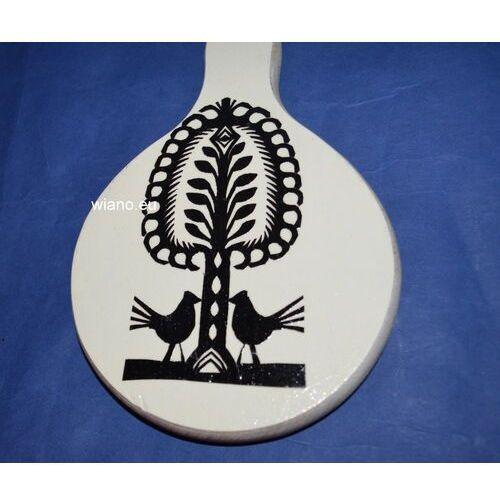 Wycinanka ludowa, kurpiowska - leluja na drewnianej desce kuchennej12x20 (ww-4) marki Twórczyni ludowa