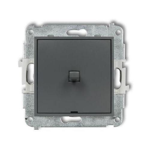 Przycisk jednobiegunowy Karlik Mini 28MWPUS-4.1 w stylu amerykańskim grafitowy mat (5903268588929)