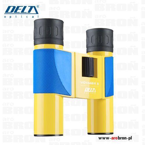 Delta optical Lornetka voyager s 10x25 - kolor żółty, turystyczna, lekka