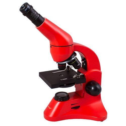 """Levenhuk Mikroskop rainbow 50l plus + książka """"niewidzialny świat"""" pomarańczowy - 69133"""