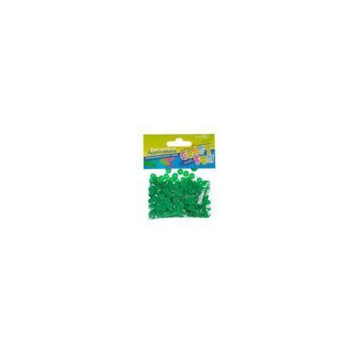 Cekiny metaliczne kółka 8mm zielone marki Craft with fun