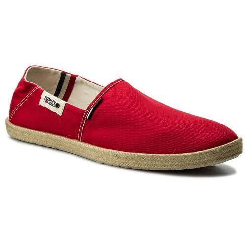 Tommy jeans Espadryle - summer slip on shoe em0em00027 tango red 611