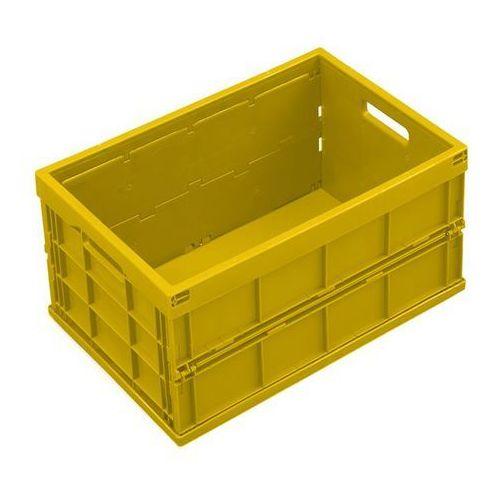 Pojemnik składany z polipropylenu, poj. 40 l, bez pokrywy, żółty. z polipropylen marki Walther faltsysteme