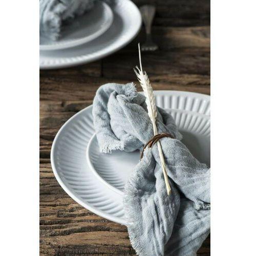 Ib Laursen - Talerz obiadowy z rowkami Mynte Pure White